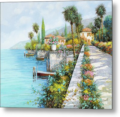 Lungolago Metal Print by Guido Borelli