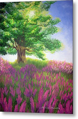 Lupine Afternoon Metal Print by Sharon Marcella Marston