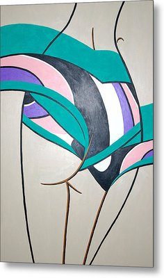 Luring Curves Metal Print by Guadalupe Herrera