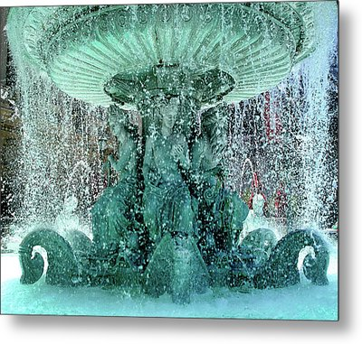 Lv Fountain Metal Print