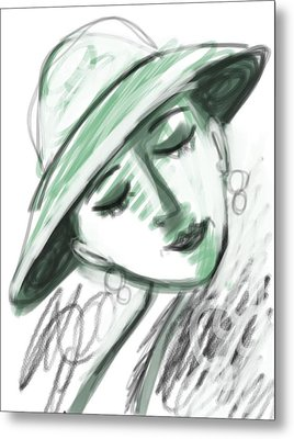 Metal Print featuring the digital art Lydia by Elaine Lanoue