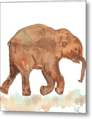 Lyuba The Ice Baby Mammoth  Metal Print