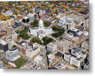 M-004 Madison Wisconsin Capitol Metal Print by Bill Lang