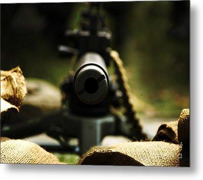 M1919 Browning Machine Gun Metal Print by Steven  Digman