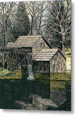 Mabry Mill Metal Print by Mike OBrien