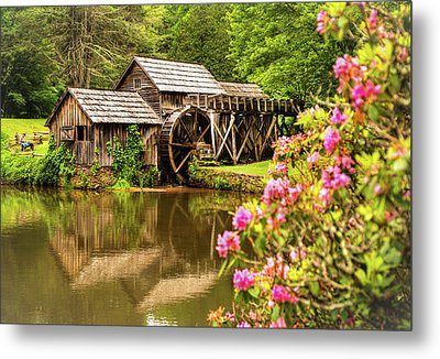 Mabry Mill Metal Print by Rebecca Hiatt
