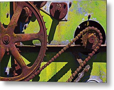 Machinery Gears  Metal Print by Garry Gay