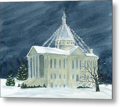 Macoupin County Illinois Courthouse Metal Print by Denise   Hoff