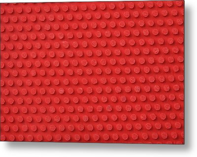 Macro Ping Pong Paddle Texture Metal Print by Nic Taylor