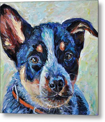 Metal Print featuring the painting Maggie Mae by Li Newton