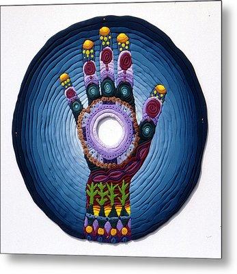 Magic Hand Metal Print by Arla Patch