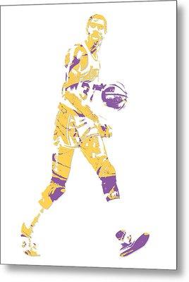 Magic Johnson Los Angeles Lakers Pixel Art 5 Metal Print