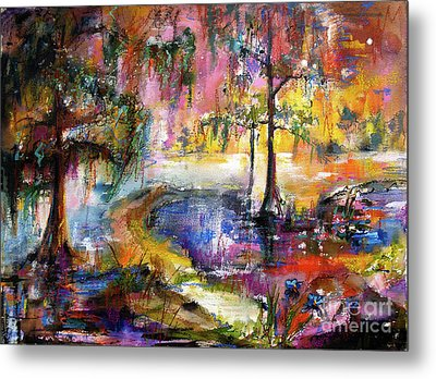 Magical Wetland Landscape Metal Print by Ginette Callaway