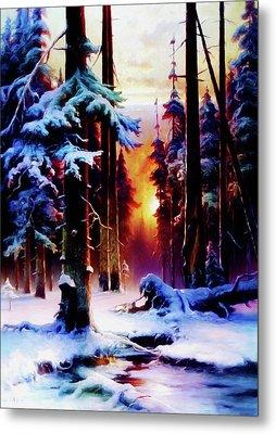 Magical Winter Night Metal Print