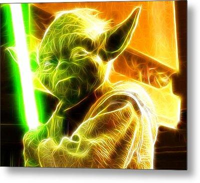 Magical Yoda Metal Print by Paul Van Scott