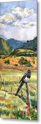 Magpie Metal Print by Anne Gifford