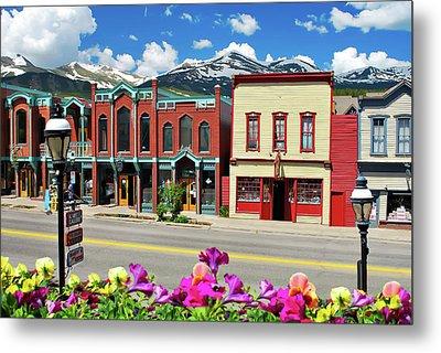 Main Street - Breckenridge Colorado Metal Print by Gregory Ballos