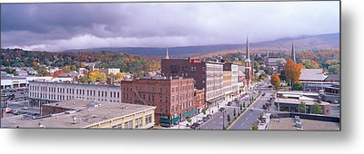 Main Street Usa, North Adams Metal Print by Panoramic Images