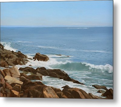 Maine Coast Metal Print by Linda Tenukas