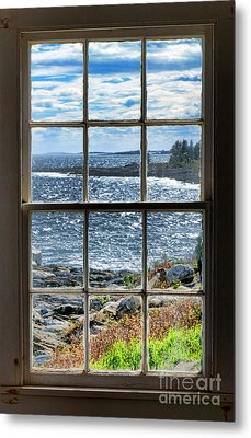 Maine Coast Picture Frame Metal Print