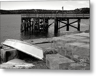 Maine Harbor Scene Metal Print by Olivier Le Queinec