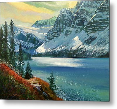 Majestic Bow River Metal Print by David Lloyd Glover