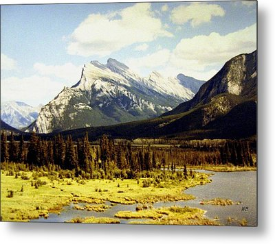 Majestic Mount Rundle Metal Print by Will Borden
