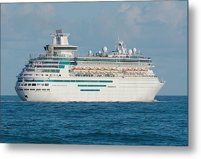 Metal Print featuring the photograph Majesty Of The Seas Cruise Ship by Bradford Martin