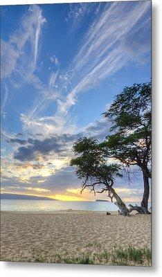 Makena Beach Maui Hawaii Sunset 2 Metal Print