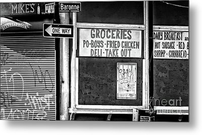 Making Groceries In New Orleans Metal Print