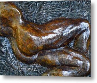 Male Dancer In Repose Metal Print by Dan Earle