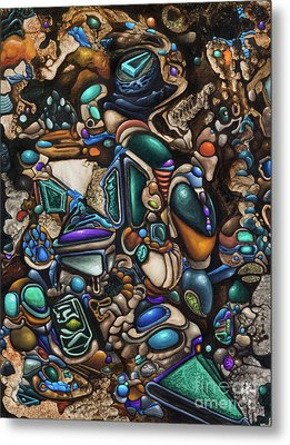 Malleomorphic Minerals In Mounds Of Majestic Muc Metal Print