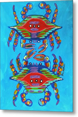 Mambo Crabs Metal Print