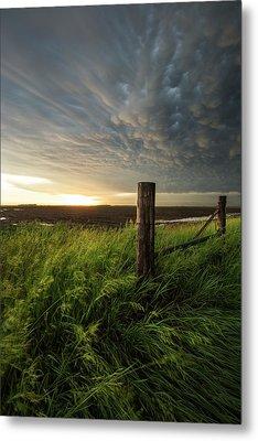 Metal Print featuring the photograph Mammatus Sunset by Aaron J Groen