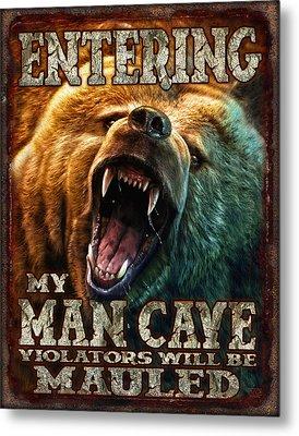 Man Cave Metal Print by JQ Licensing