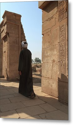 Metal Print featuring the photograph Man In The Temple by Silvia Bruno