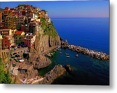Manarola Crossing Metal Print