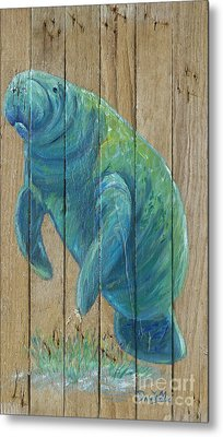 Manatee Metal Print by Danielle Perry