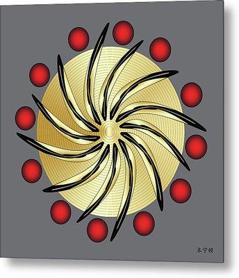 Mandala No. 14 Metal Print