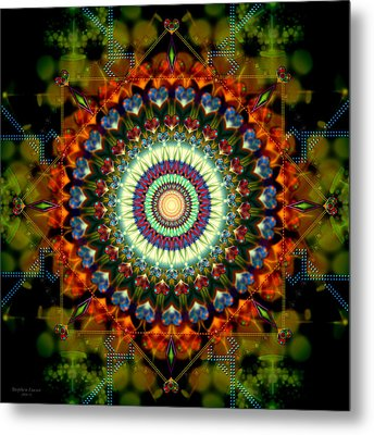 Mandala Of Loves Journey Metal Print by Stephen Lucas