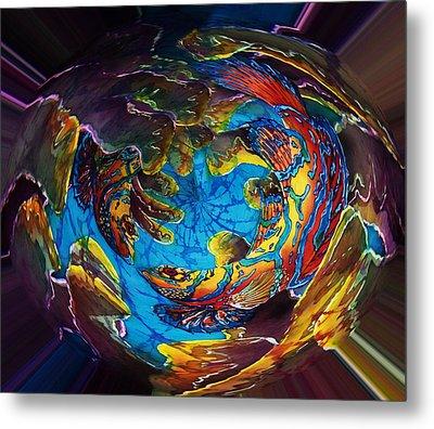 Mandarinfish Abyss Metal Print by Sue Duda