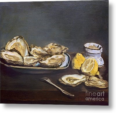 Manet: Oysters, 1862 Metal Print by Granger