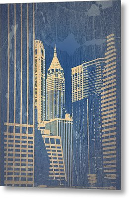 Manhattan 1 Metal Print by Naxart Studio