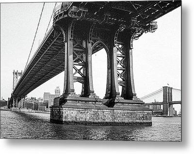 Manhattan Bridge, Afternoon Metal Print