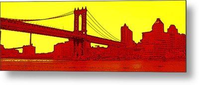 Manhattan Bridge Metal Print by Julie Lueders