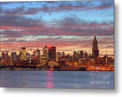 Manhattan Dawn Skyline I Metal Print by Clarence Holmes