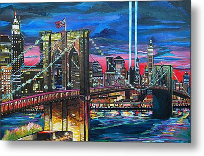Manhattan Kinda Night Metal Print by Patti Schermerhorn