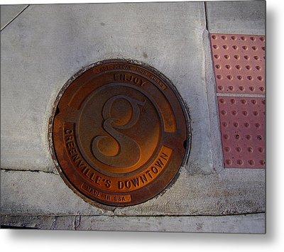Manhole I Metal Print by Flavia Westerwelle