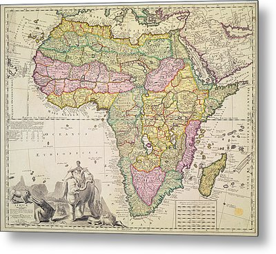 Map Of Africa Metal Print
