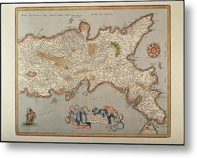Map Of The Kingdom Of Naples Metal Print